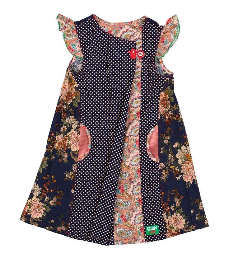Winter Berry Dress - Big, Oishi-m Clothing for kids, Winter 2016, www.oishi-m.com