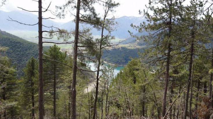 On the way from Feneos lake to village Zaroucla