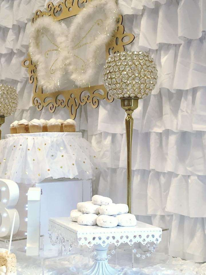 Heaven themed baby shower party! See more party planning ideas at CatchMyParty.com!