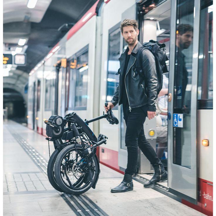 Vélo pliant utlra-équipé avec un moteur pédalier Bosch. Une signature haut de gamme par Tern !