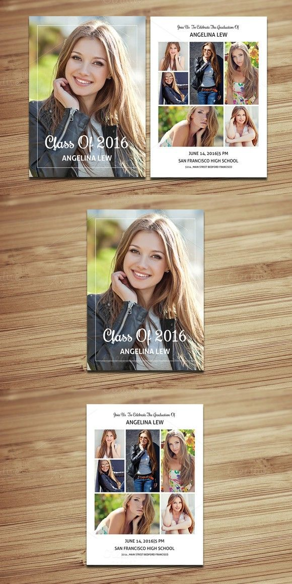 Senior Graduation Announcement-V328. Flyer Templates
