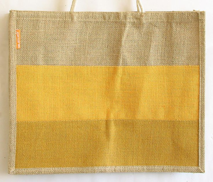 Jute Shopping Bag with One Open Pocket and One Small Pocket (Jute)