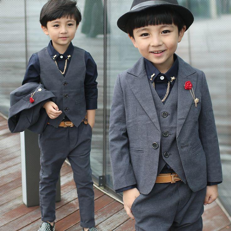 Мальчик костюм 2013-тройках осенняя маленький мальчик жилет костюмы свободного покроя костюм джентльмен с детьми