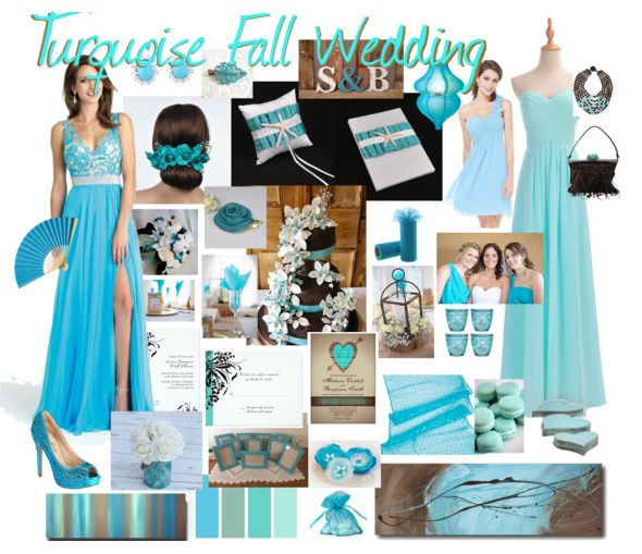 Turquoise Fall Wedding mood board