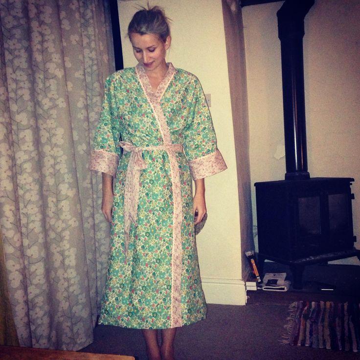 I made a Kimono from Liberty of London fabric!