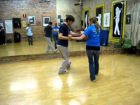▶ east coast swing, toe heel swivels, toe heel crosses, circling - YouTube possibly good for choreo