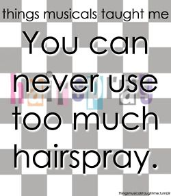 In my case, hairspray is a necessity to have any kind of hairstyle.