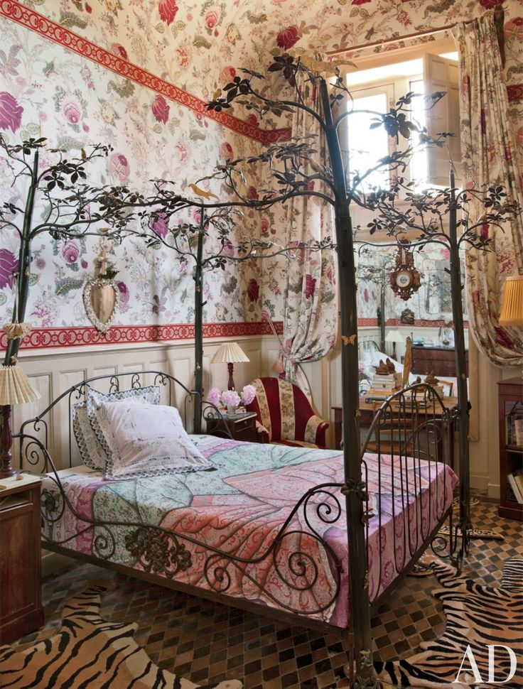 Looking for inspiration?  Take a look at the  animal prints and floral patterns in the winter quarters of a 15th-century French château.