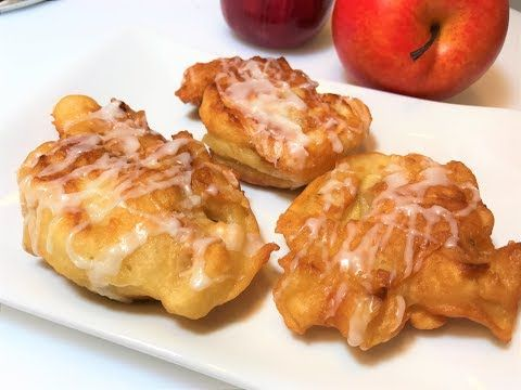 ОЛАДЬИ С ЯБЛОКАМИ.  Как готовят ВКУСНЯШКУ американские женщины. Быстрый Завтрак. Apple Fritters. - YouTube