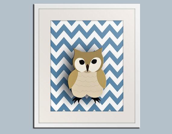 owl art: Wall Art, Zigzag Prints, Owl Nurseries, Forests Animal, Owl Art, Baby Art, Animal Friends, Nurseries Art, Kids Rooms