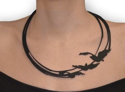 divergent bird tattoo necklace - HD1300×960