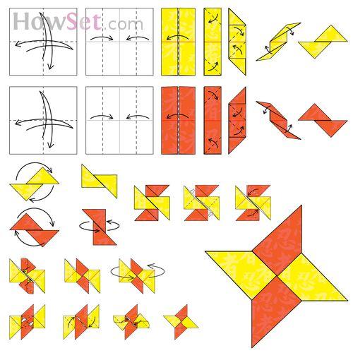 Paper Shuriken Instructions Ninja star: Animated O...