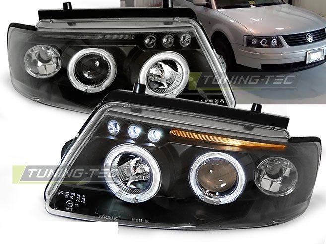 New set #headlights rhd #lpvw78 vw passat b5 3b 11.96-08.00 #angel eyes black,  View more on the LINK: 	http://www.zeppy.io/product/gb/2/282245089232/