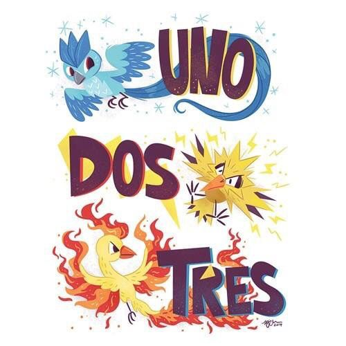Articuno,Moltres and Zapdos Pokemon