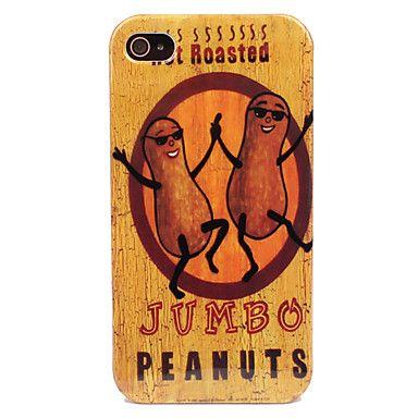 Peanut Folk Mønster Hard Case for iPhone 4/4S