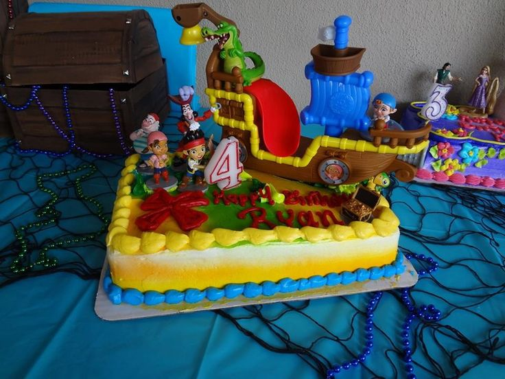 54b1cde233a52abb1f51298e7f4eba47 Jake And The Neverland Pirates Birthday Cake Toppers