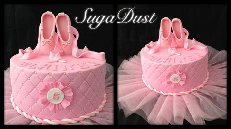 All pretty and pink – this cake was requested for a birthday girl who loves ballet and loves pink.