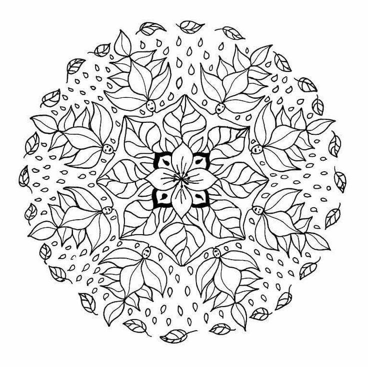 Flower Elf Mandala Coloring Pages Worksheet