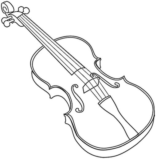 Violin coloring page music education resources for Viola coloring page