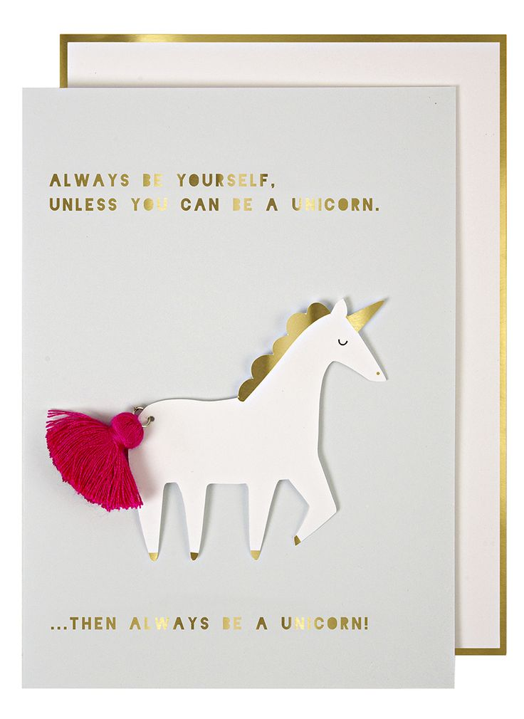 Meri Meri Unicorn Card @TwinsNextDoor