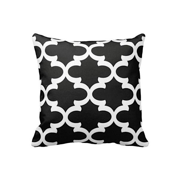 7 Sizes Available Black Throw Pillow Cover Black Cushion Covers... ($16) ❤ liked on Polyvore featuring home, home decor and throw pillows