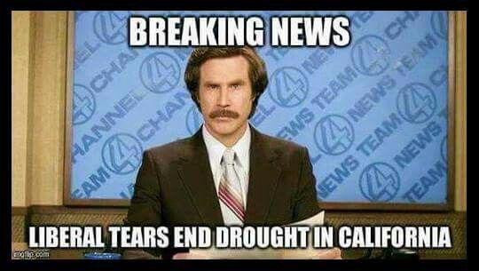 Libtards end California drought