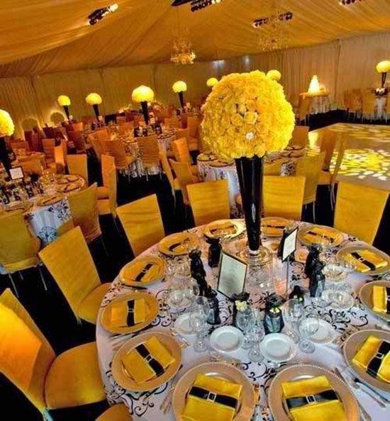Свадьба в желтом цвете: фото и примеры оформления свадьбы в желтом цвете