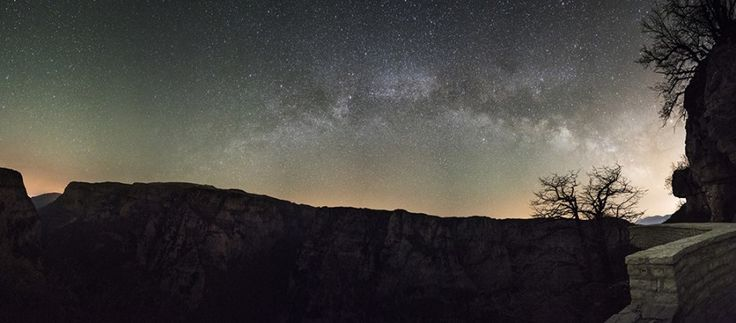 The Milky Way  over Vikos Gorge in the Pindus Mountains, Epirus, North Greece - Greece mainland Workshop - Ollie Taylor Photography