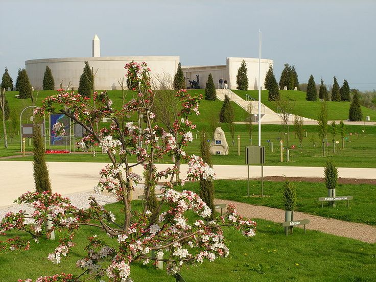 National Memorial Arboretum, Alrewas, Staffs. View across NMA towards Armed Forces Memorial