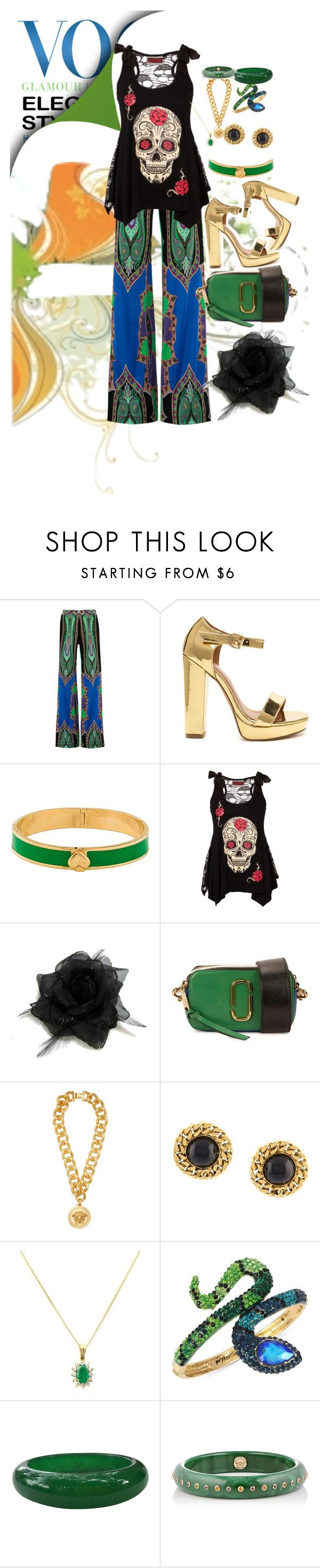 """""""Cool &colorful!"""" by diannecollier ❤ liked on Polyvore featuring Etro, Kate Spade, Marc Jacobs, Versace, Chanel, Turner & Leveridge, Betsey Johnson and Mark Davis"""