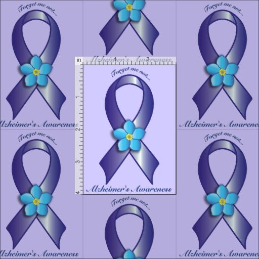 24597a9f885 Alzheimer's Awareness Ribbon with Forget Me Not Fabric   tattoos ...
