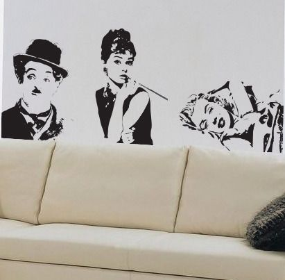 Famous faces wallsticker. Nice decorations!