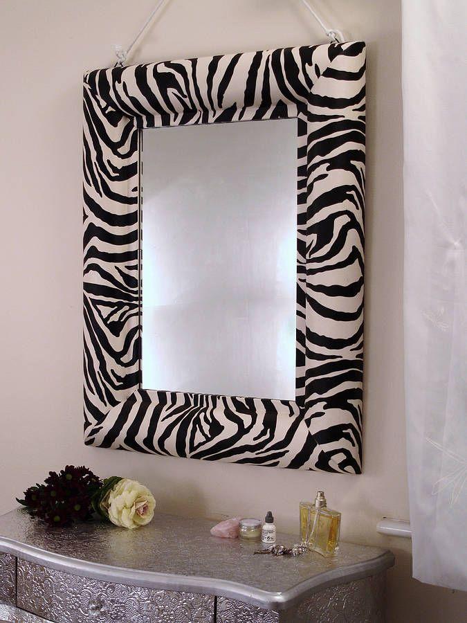 zebra print mirror by xxxxxxxxxxx | notonthehighstreet.com
