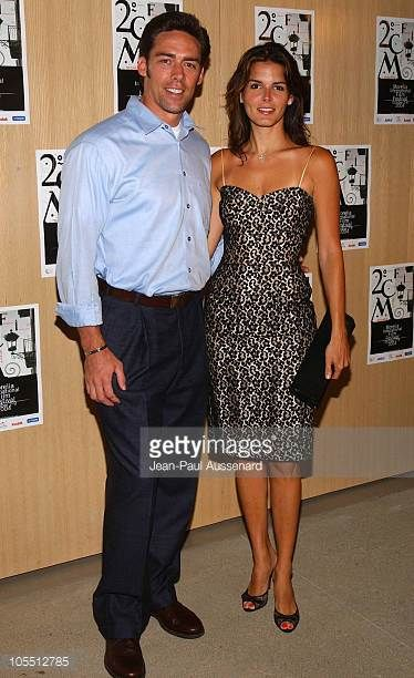 Jason Sehorn and Angie Harmon during Morelia Film Festival KickOff Party hosted by Gran Centenario Arrivals at Private residence in Beverly Hills...