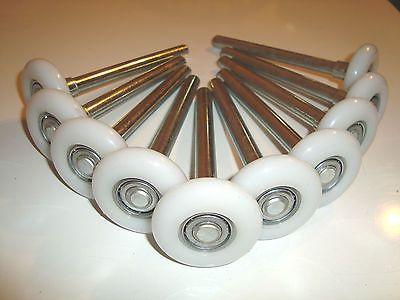 "10 Nylon Garage Door Roller / Wheel / HEAVY DUTY 11 Ball Bearing FOR 2"" TRACK"