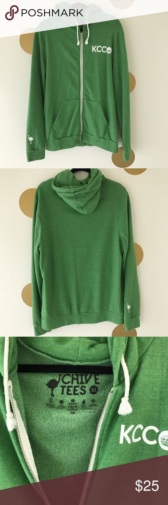 KCCO Hoodie - Full Zip Men's heather green KCCO full zip hoodie! The Chive Shirts Sweatshirts & Hoodies