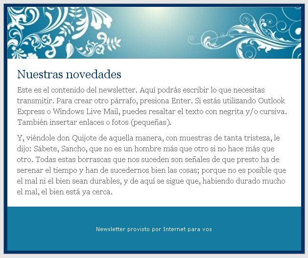 Plantillas gratuitas para newsletters. Desarrollo web. Diseño web. #newsletters #internetparavos #mailing #newsletter #plantillas #gratis