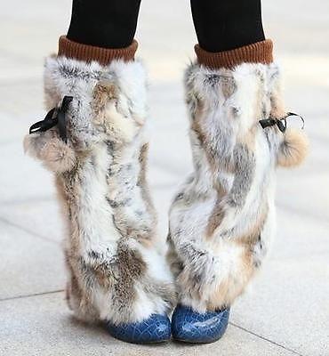 Recommend GENUINE RABBIT Foot Leg Warmers fur coat jacket vest shawl cape cs A47