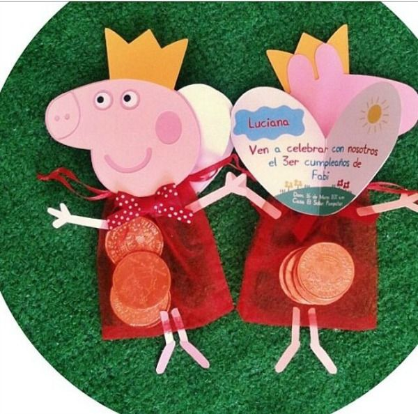 #Ideas para un #cumpleaños con Peppa Pig. #Souvenir #DecoParty #Fiesta Descarga tu kit imprimible de PeppaPig aqui http://mundomab.com/index/kit-para-imprimir-de-peppa-descarga-gratis/