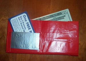 This is a guide about making a duct tape wallet. Duct tape has gained a new market with the crafter, including children.
