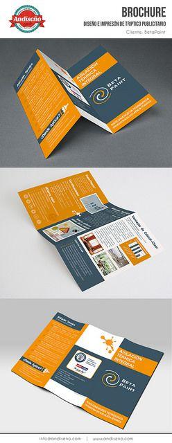 Diseño e impresión de tríptico publicitario para cliente Betapaint. by Andiseño Estudio, via Flickr