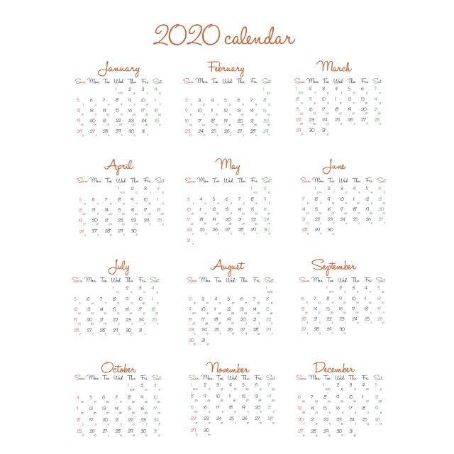 Calendario 2020 No Vietname Calendar Print Calendar Calendar Template