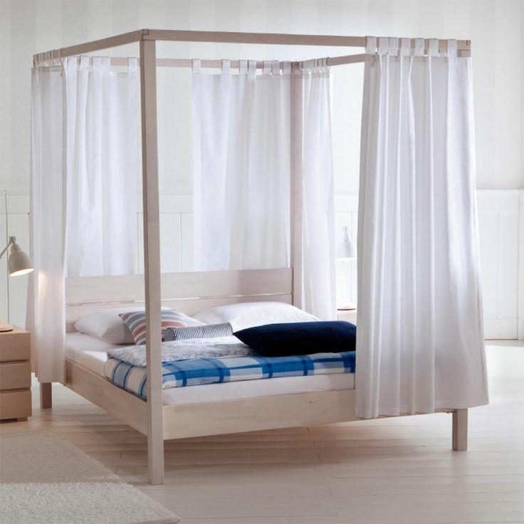 Himmelbett bett buche weiss schlaraffenland a bedroom for Canape 180x200