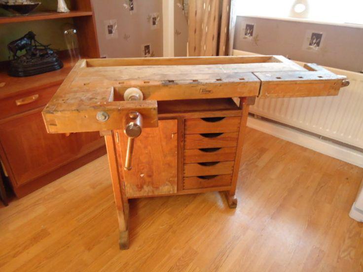 Swedish carpenters workbench, wooden school desk plans