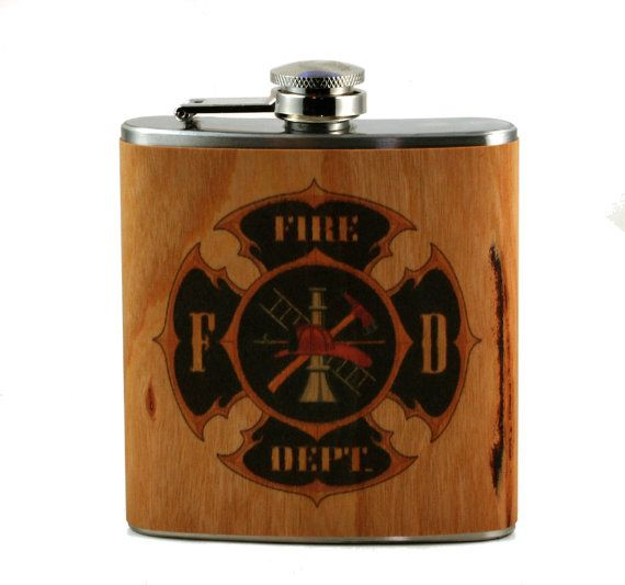 This listing is for one, six ounce flask. Print is on real cherry wood veneer. The wood is then sealed with a shellac to make it water/booze