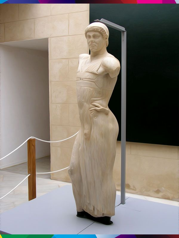 MOZIA (MARSALA) - EFEBO DI MOZIA (WHITAKER MUSEUM).One of the most beautiful Greek sculptures is on display here: the Efebo di Mozia, dating from the 5th century BCE.It depicts a magnificent athlete dressed in a very light fabric that outlines every contour, with one hand on his hip and one arm raised upwards, broken, perhaps making a victory sign.An unusual terracotta feeding bottle for  babies is also on display. #Marsala #Sicily #Italy #Whitaker #Museum #Mozia #art #archeology #sculture