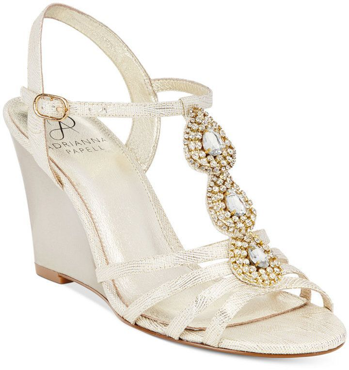 Adrianna Papell Kristen Evening Wedge Sandals at Macy's #affiliatelink