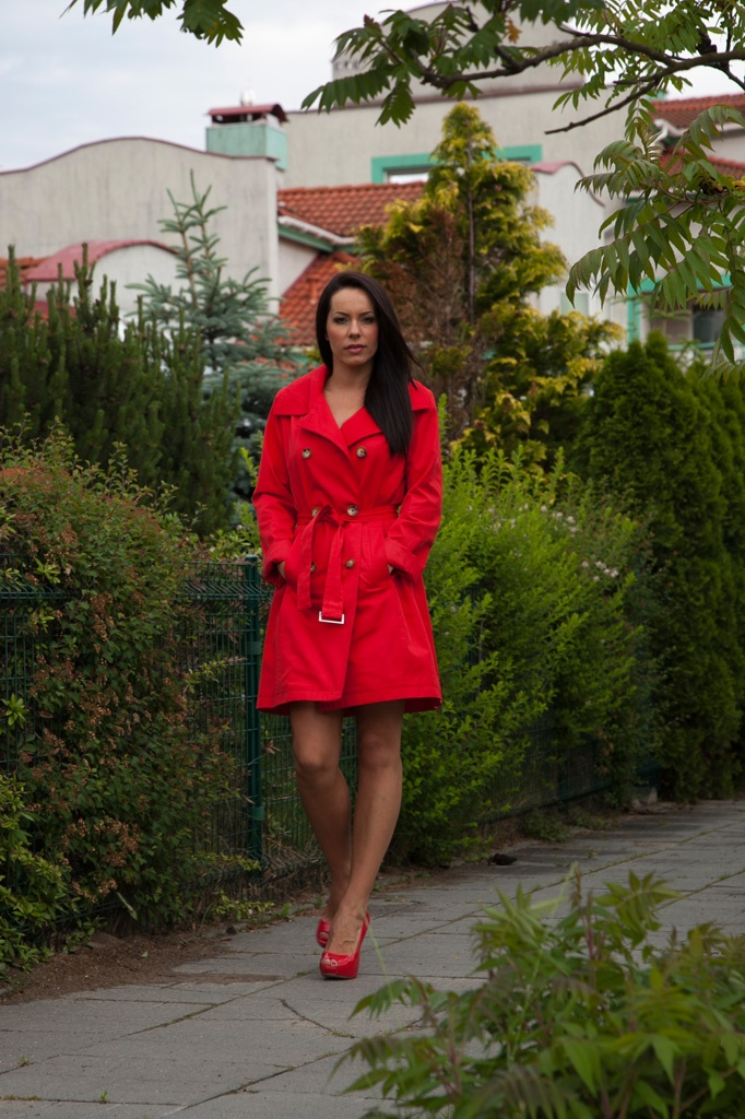 Red coat Michael Kors  juliatomaszewska.com