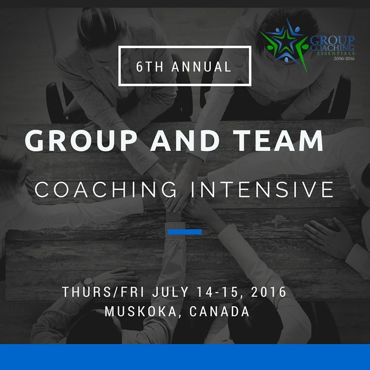 Are you a coach who wants to hone their group and team coaching skills?  Join Effective Group Coaching Author Jennifer Britton for the 6th Annual Muskoka Group and Team Coaching Intensive on July 14 - 15, 2016. Two days of rich learning and practice in the areas of group and team coaching. Click here to learn more or pin to view later and share.