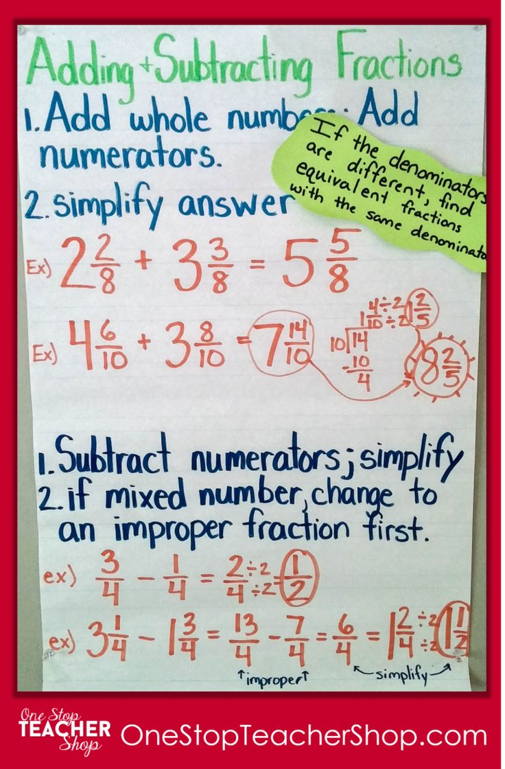 Adding And Subtracting Fractions Anchor Chart Check Out My Collection Of Anchor Charts For Math Reading Fractions Anchor Chart Anchor Charts Studying Math Adding and subtracting hours in excel